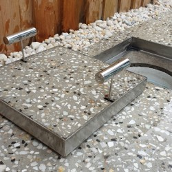 Hide Pool Concrete Skimmer Lid and Access Cover Kit