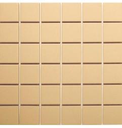 Beige Matt Sheeted Paper Faced Mosaic Porcelain Tile 50x50