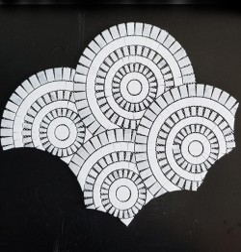 Los Angeles Carrara & Thassos Round Honed Marble Mosaic