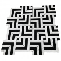 New Orleans Design Carrara & Nero Marquina Honed Marble Mosaic
