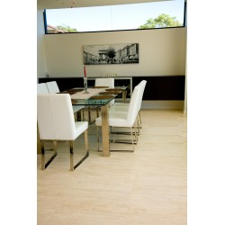 Travertine Chiaro White Tiles - Vein Cut - Epoxy Filled & Honed