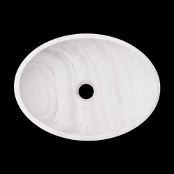 Bianca Luminous Honed Oval Basin Marble 2226