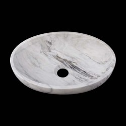 Persian White Honed Oval Basin Marble 2606