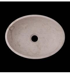 New Botticino Honed Oval Basin Marble 2611