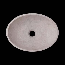 Bianca Perla Honed Oval Basin Limestone 2621
