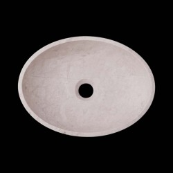 Bianca Perla Honed Oval Basin Limestone 2627