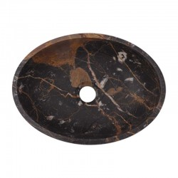 Black & Gold Honed Oval Basin Marble 2640