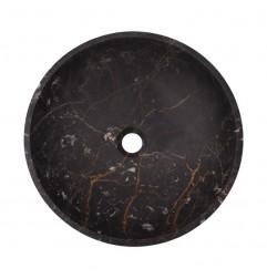 Black & Gold Polished Round Basin Marble 2545