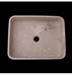 New Botticino Honed Rectangle Basin Marble 2583