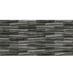 Castlestone Muretto Black Ret Italian Porcelain Tile