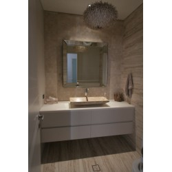 Classico Veincut Honed Rectangle Angle Basin Travertine