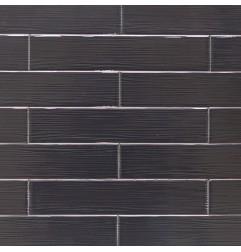Opt Art Lines Nero Italian Ceramic Tile 50x250