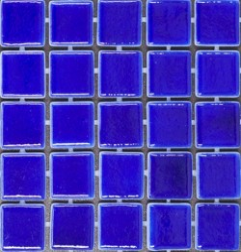 Italian Trend Liquid Royal Blue Glass Mosaic Tiles
