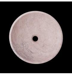 Bianca Perla Honed Round Basin Limestone 2731