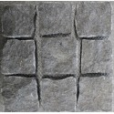 Cobblestone Diamond Black Granite Sheeted