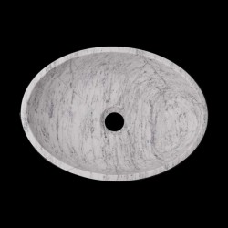 Persian White Honed Oval Basin Marble 2817