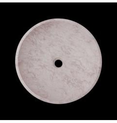 Bianca Perla Honed Round Basin Limestone 2824