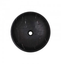 Nero Marquina Honed Round Basin Marble 2693