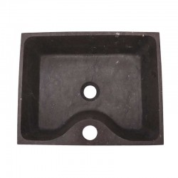 Pietra Brown Honed Rectangle Basin with Tap Hole Limestone 1951