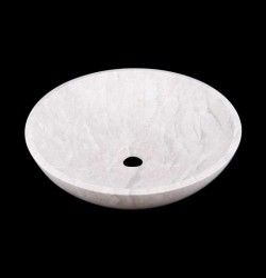 Bianca Perla Honed Round Basin Limestone 2191