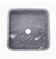 Crystal Grey Honed Square Basin Marble 2354