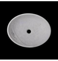 Bianca Luminous Honed Oval Basin Marble 2830