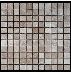 Emperador Light Honed Marble Mosaic 25x25