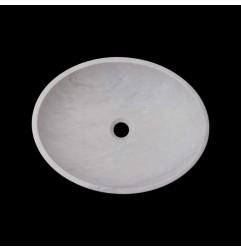 Bianca Luminous Honed Oval Basin Marble 2874