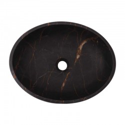 Black & Gold Honed Oval Basin Marble 2883