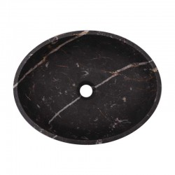 Black & Gold Honed Oval Basin Marble 2890
