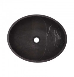 Pietra Grey Honed Oval Basin Limestone 2897
