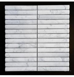Fluted Piano Carrara Honed Marble Mosaic