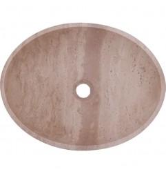 Classico Honed Oval Basin Travertine 1835