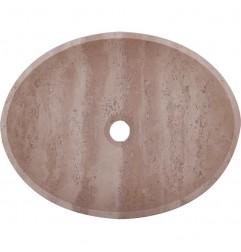 Classico Honed Oval Basin Travertine 1834