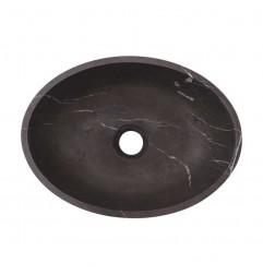Pietra Grey Honed Oval Basin Limestone 3032