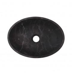Nero Marquina Honed Oval Basin Marble 3035