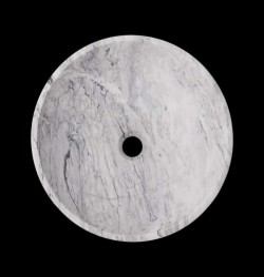 Persian White Honed Round Basin Marble 2697