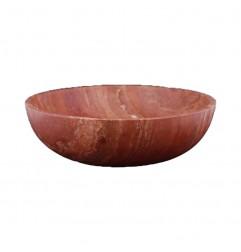 Rosso Honed Round Basin Travertine 2218