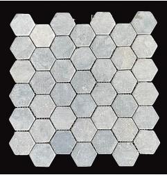 Ash Hexagonal Tumbled Marble