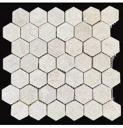 Beige Hexagonal Tumbled Marble