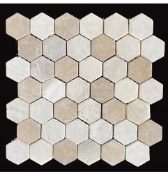 Mega Mix Hexagonal Tumbled Marble