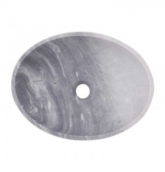 Crystal Grey Honed Oval Basin Marble 3142