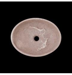 Silver Honed Oval Basin Travertine 3132