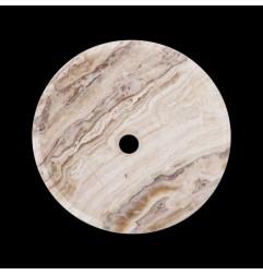 White Tiger Onyx Honed Round Basin 3167