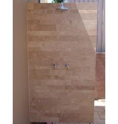 Travertine Noce Brown Tiles - Cross Cut - Epoxy Filled & Honed