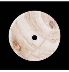 White Tiger Onyx Honed Round Basin 3169