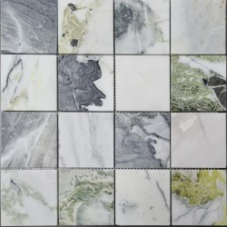 Ice Green Honed Square Sheeted Marble 75