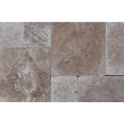 Noce French Pattern Tumbled Tile Travertine