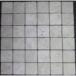 Travertine Classico Mosaics|Tumbled|Sheeted