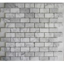 Carrara Brickbond Mosaic|Honed